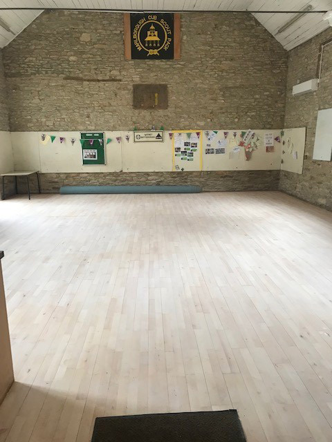Interior of the Scout Hut